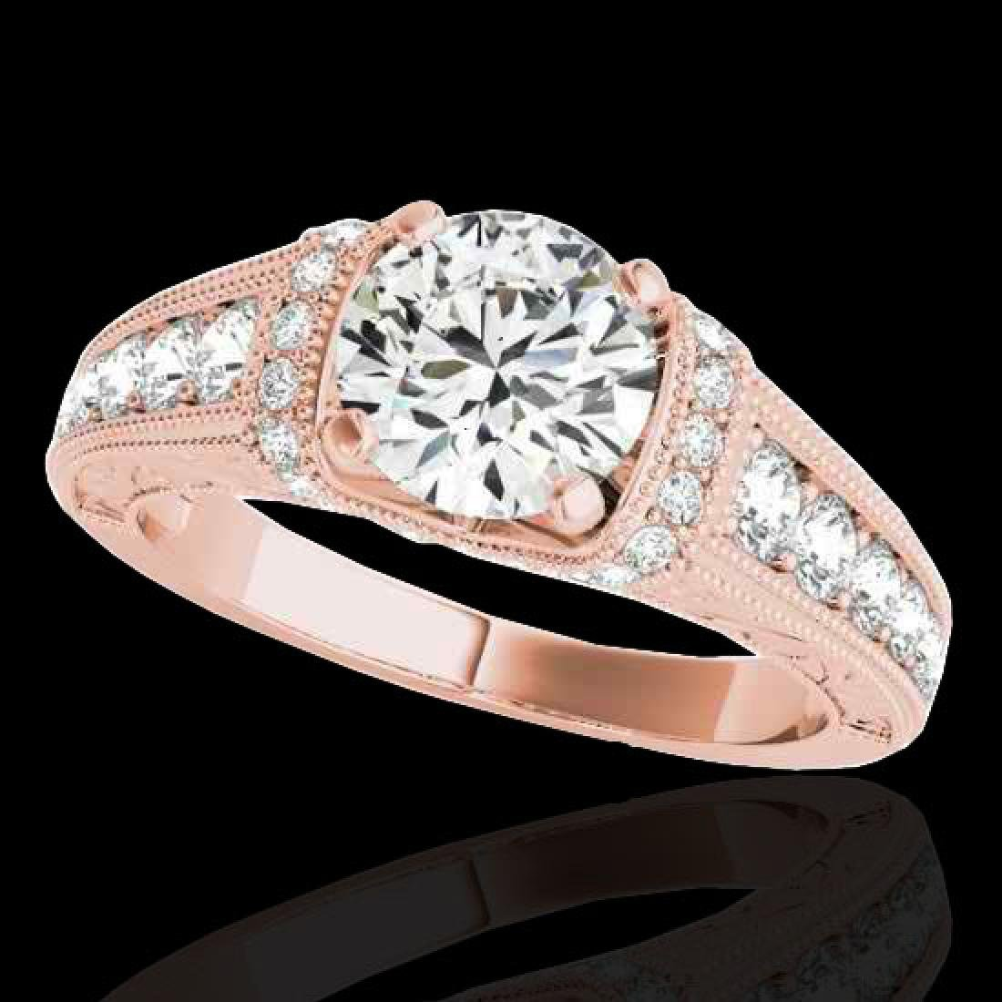 1.5 CTW H-SI/I Certified Diamond Solitaire Antique Ring