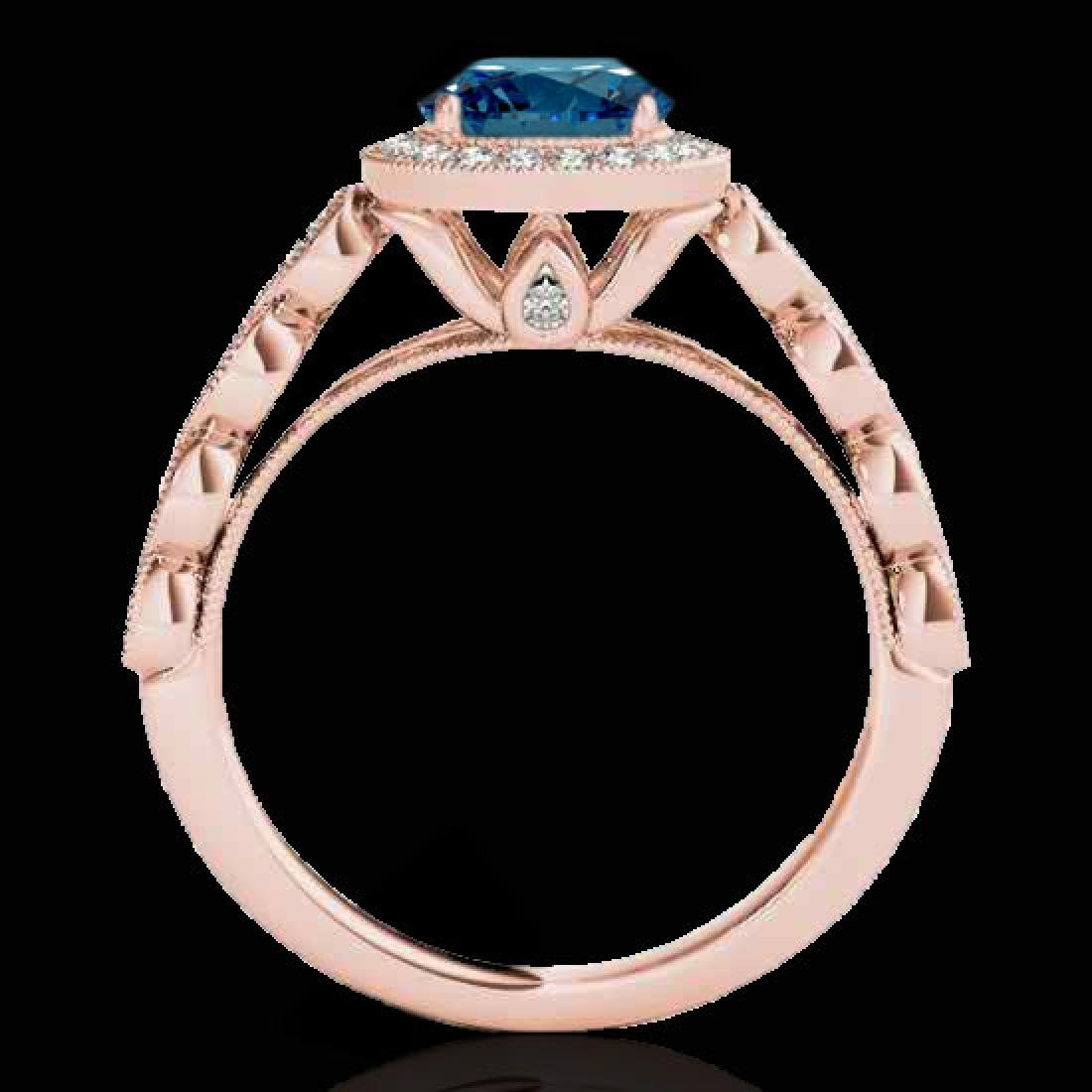 1.93 CTW SI Certified Fancy Blue Diamond Solitaire Halo - 2