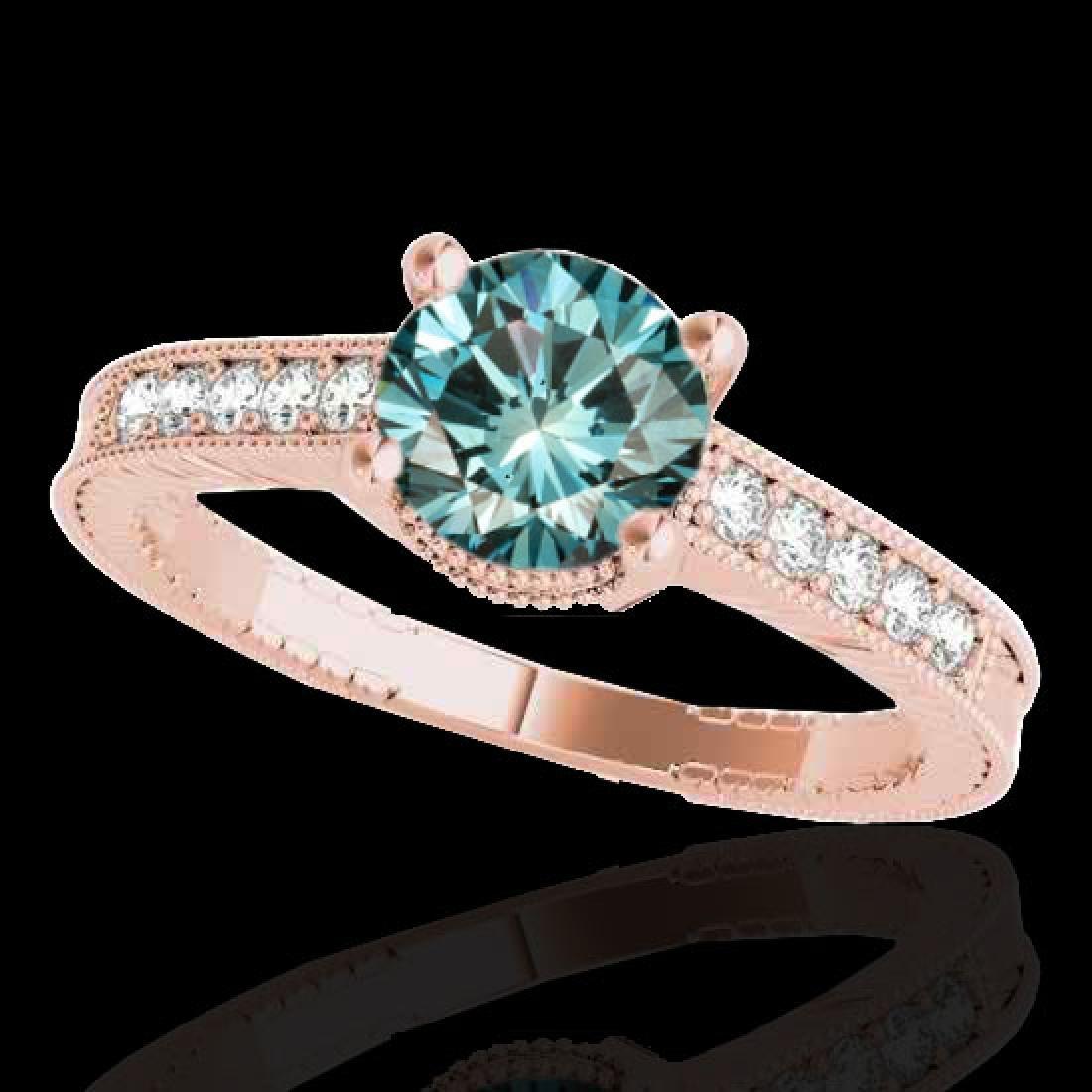 1.2 CTW SI Certified Fancy Blue Diamond Solitaire