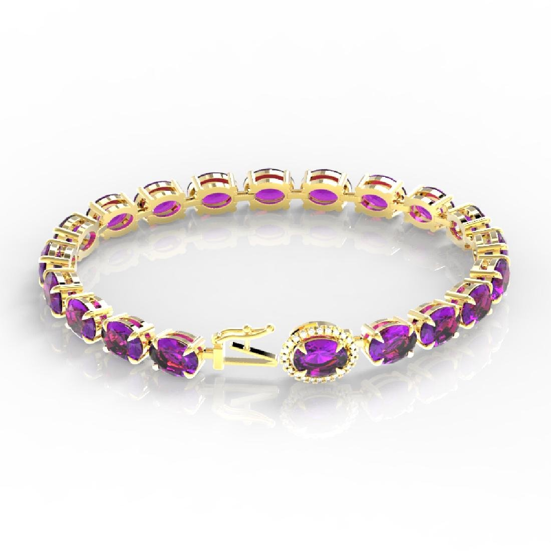 19.25 CTW Amethyst & VS/SI Diamond Tennis Micro Pave - 3