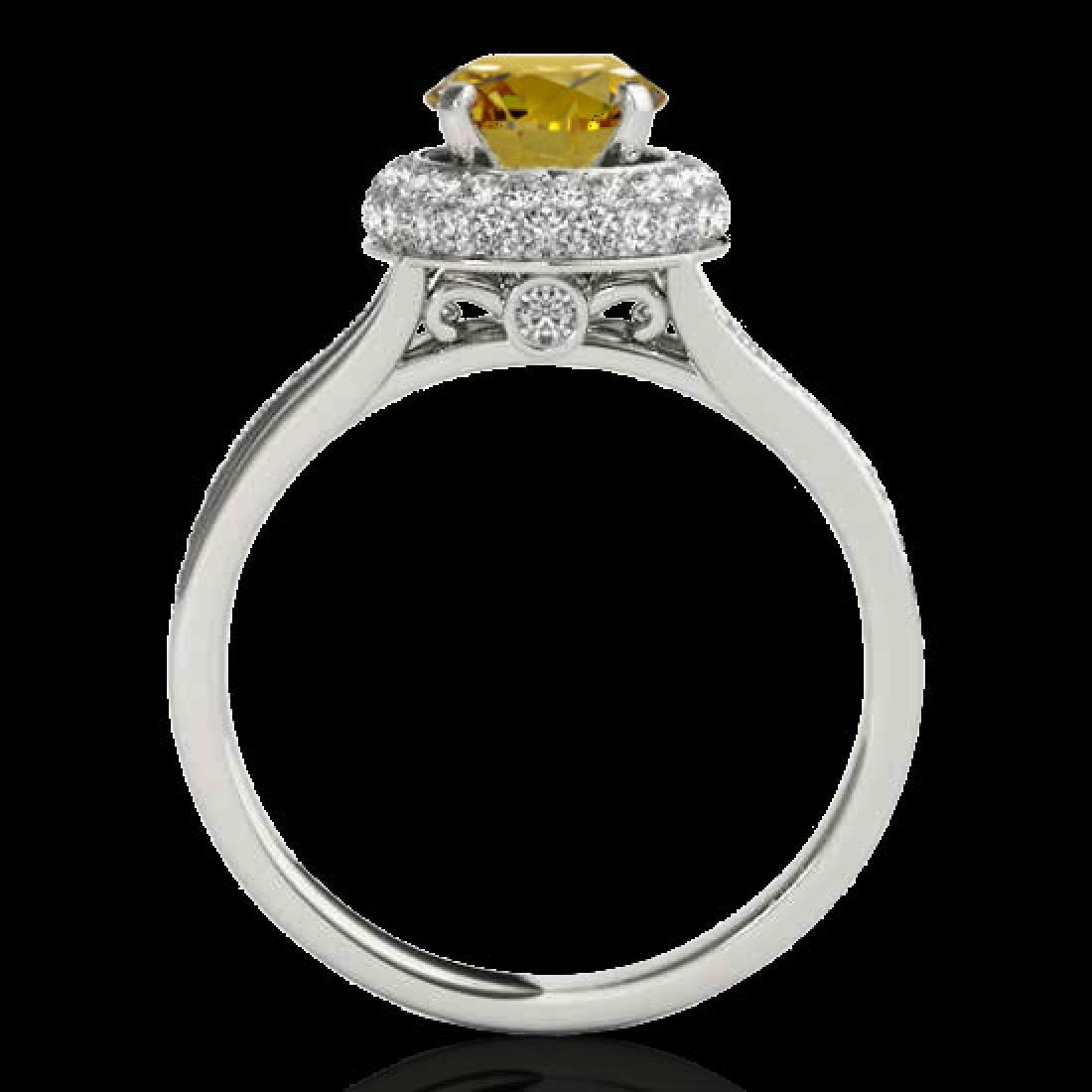 1.6 CTW Certified SI/I Fancy Intense Yellow Diamond - 2