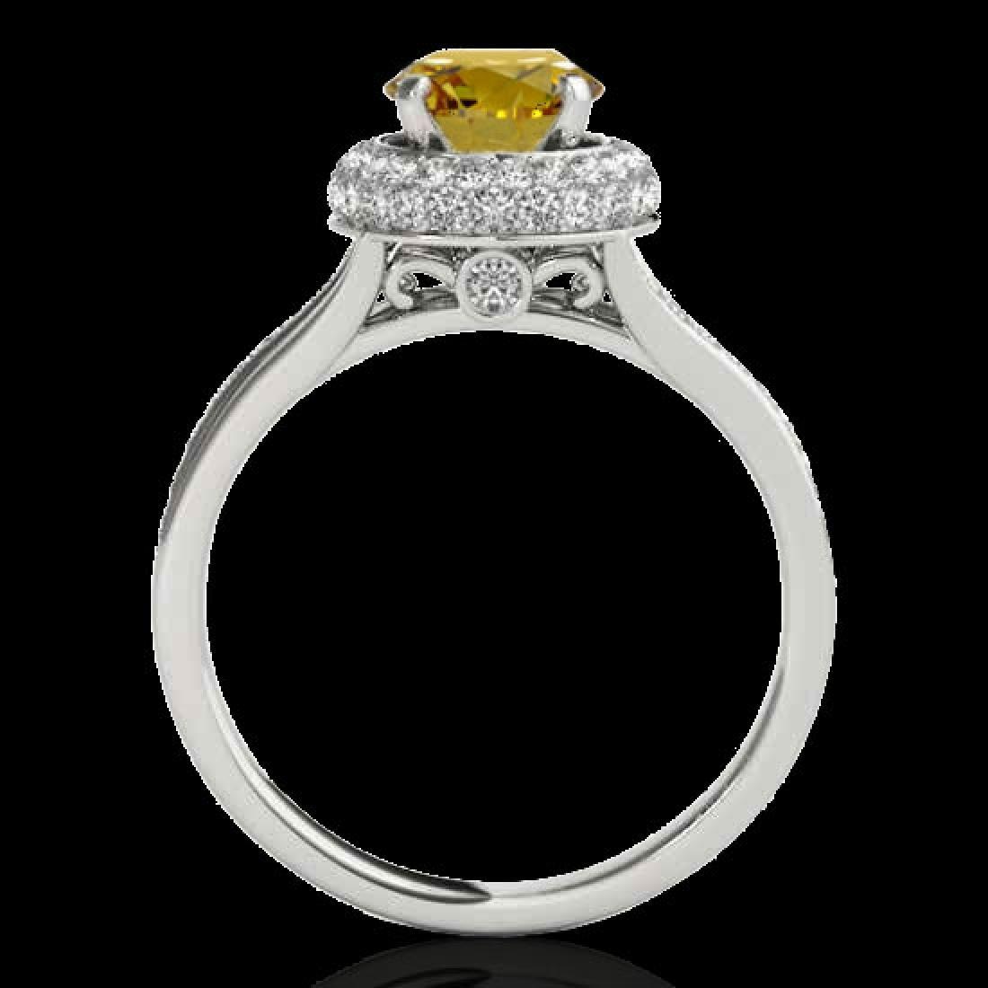 1.6 CTW Certified SI/I Fancy Intense Yellow Diamond - 2