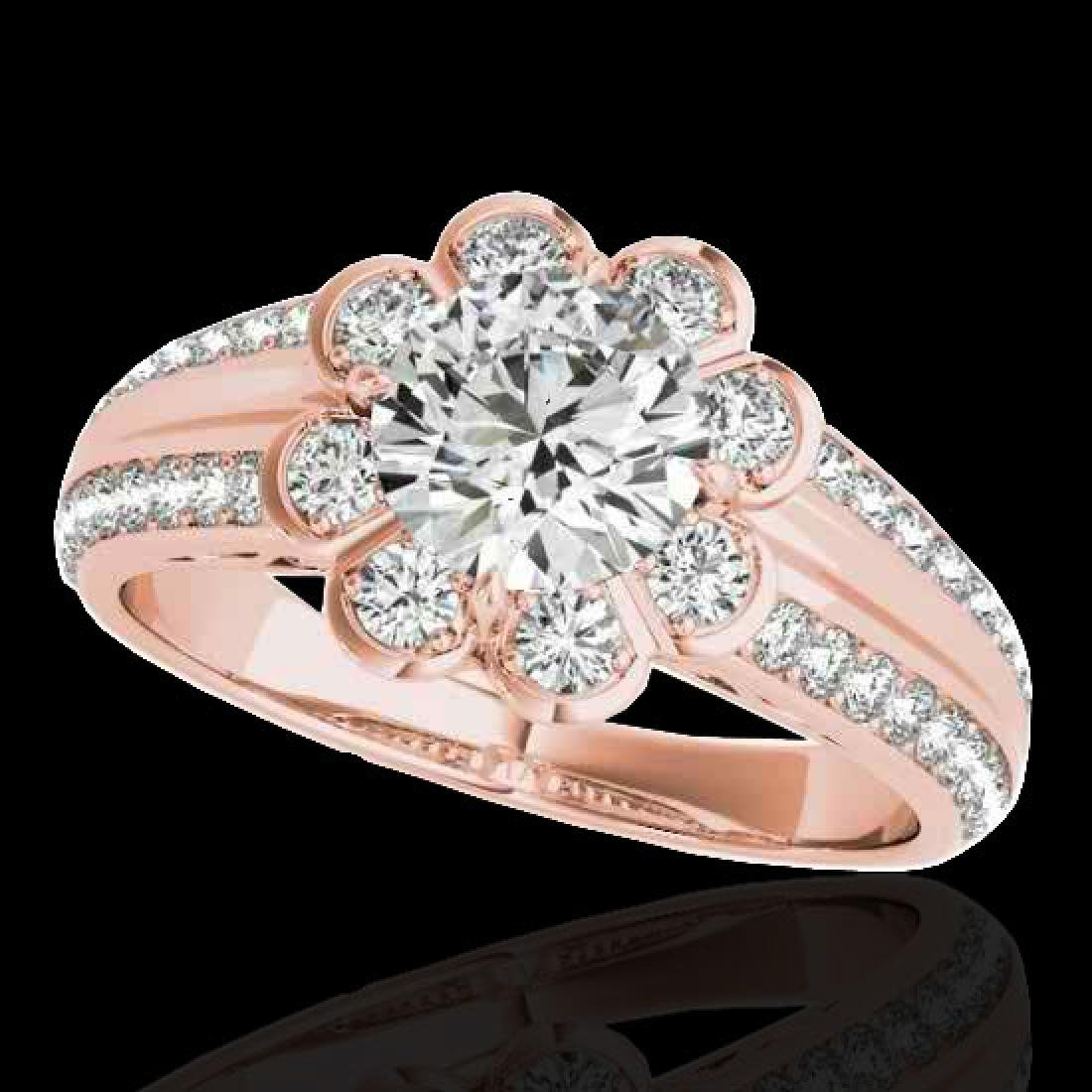 2.05 2.05 CTW H-SI/I Certified Diamond Solitaire Halo