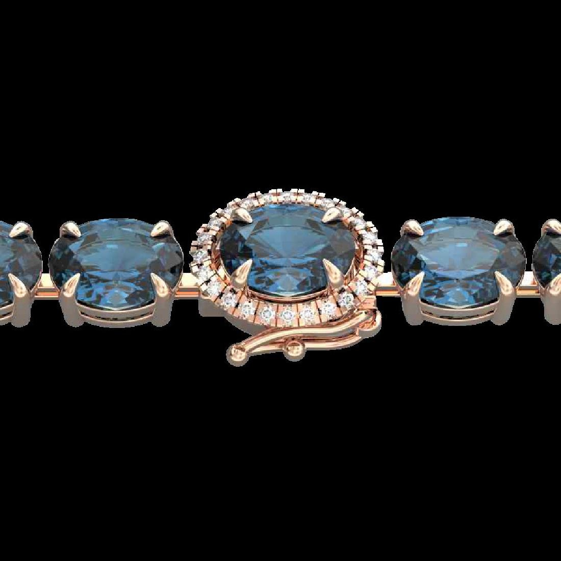19.25 CTW London Blue Topaz & VS/SI Diamond Tennis