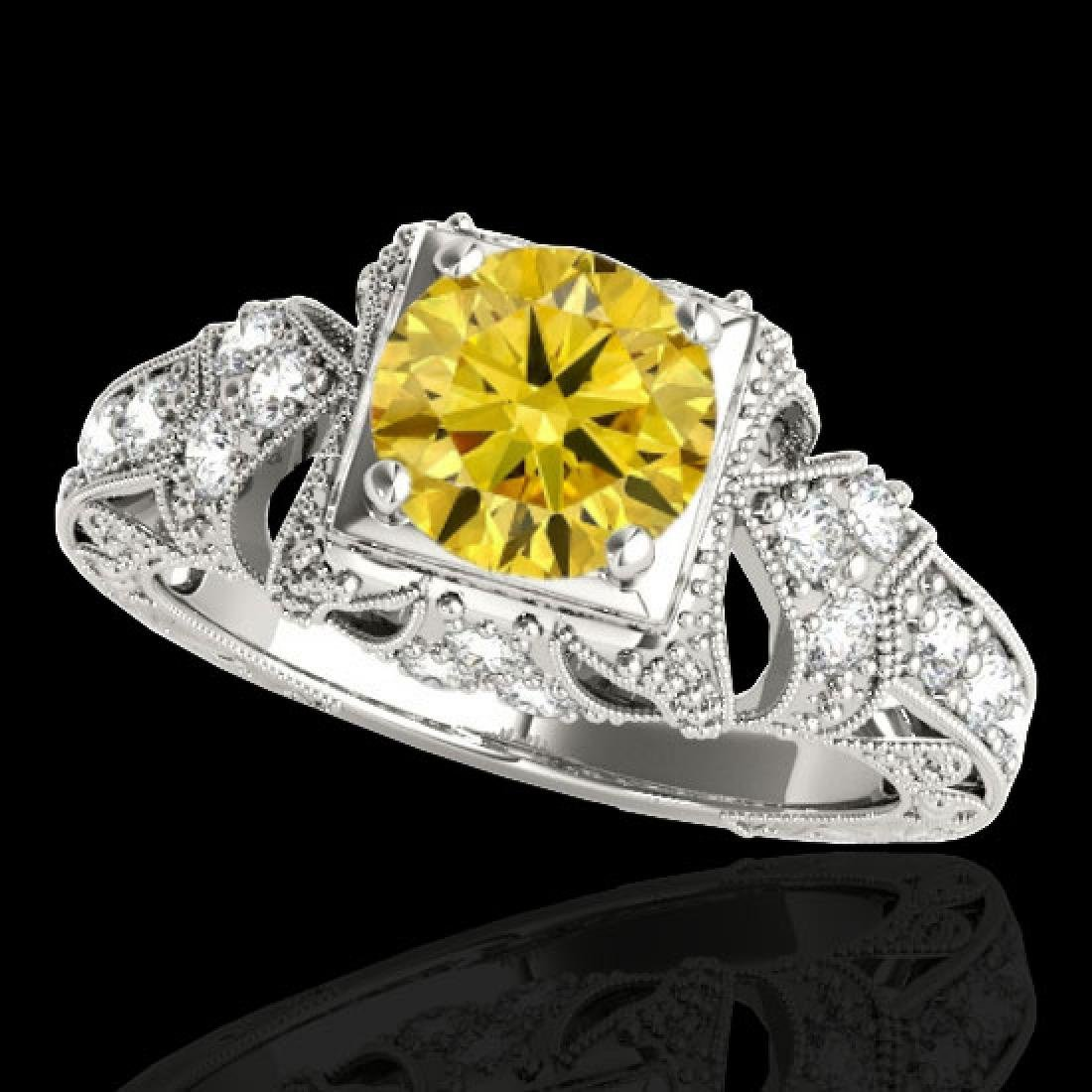 1.25 CTW Certified Si Intense Yellow Diamond Solitaire
