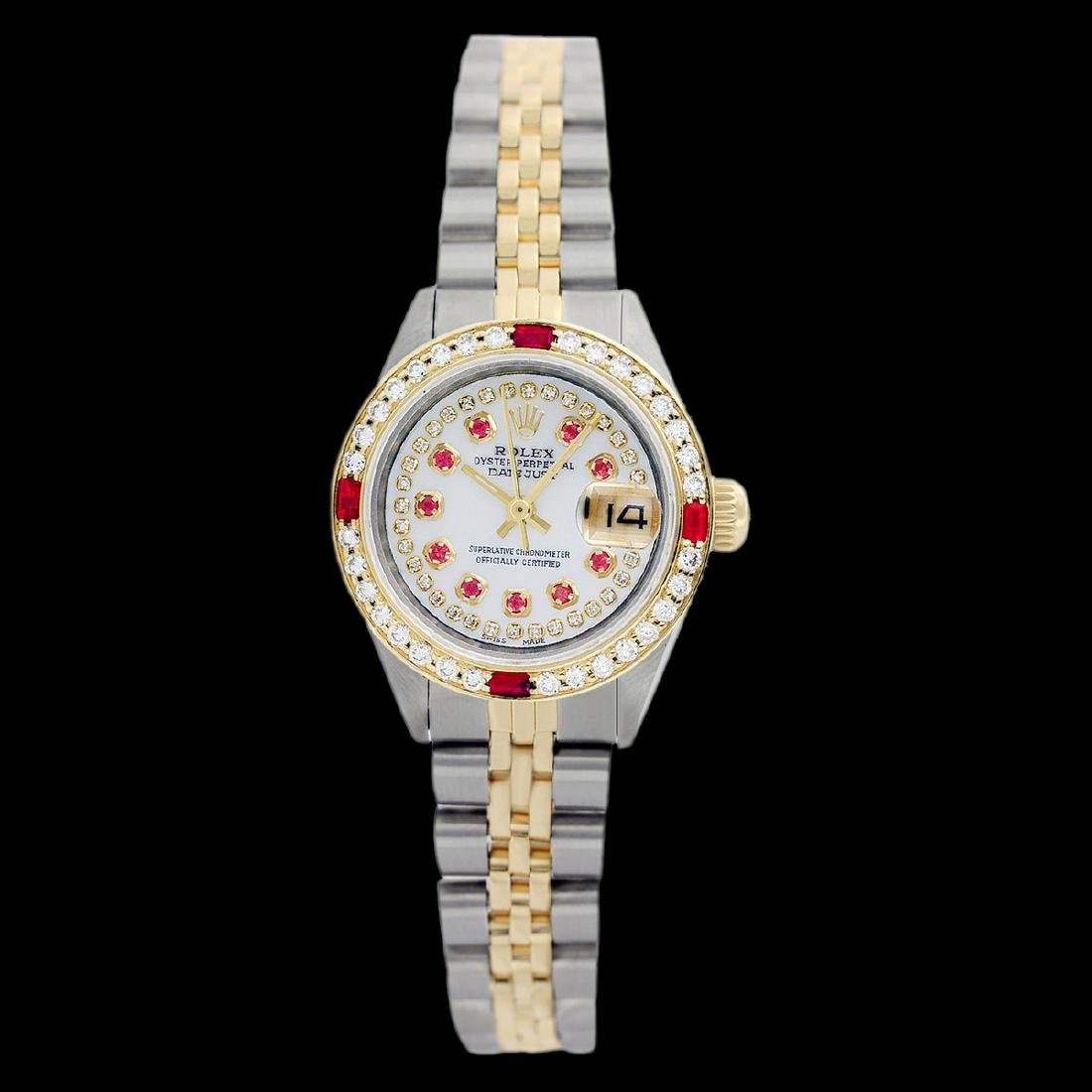Rolex Men's Two Tone 14K Gold/SS, QuickSet, Diam/Ruby - 2