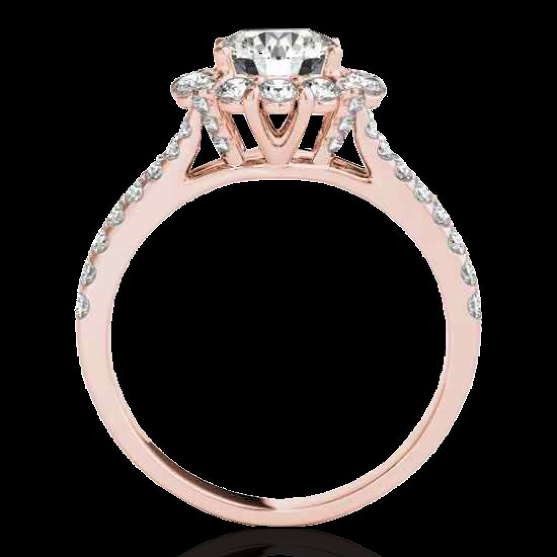 2.51 CTW H-SI/I Certified Diamond Solitaire Halo Ring - 2