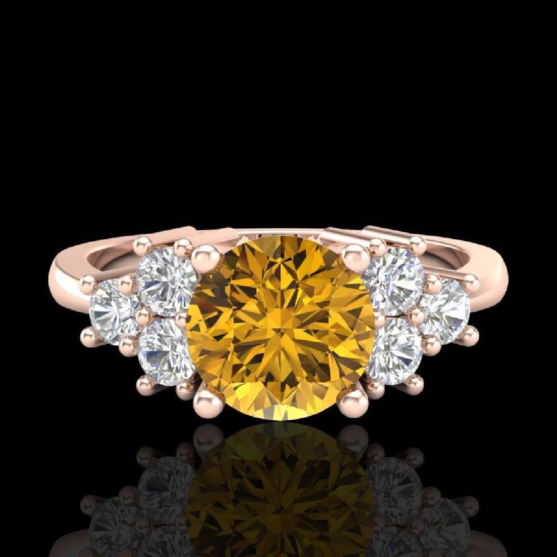 1.5 CTW Intense Fancy Yellow Diamond Solitaire Classic - 2