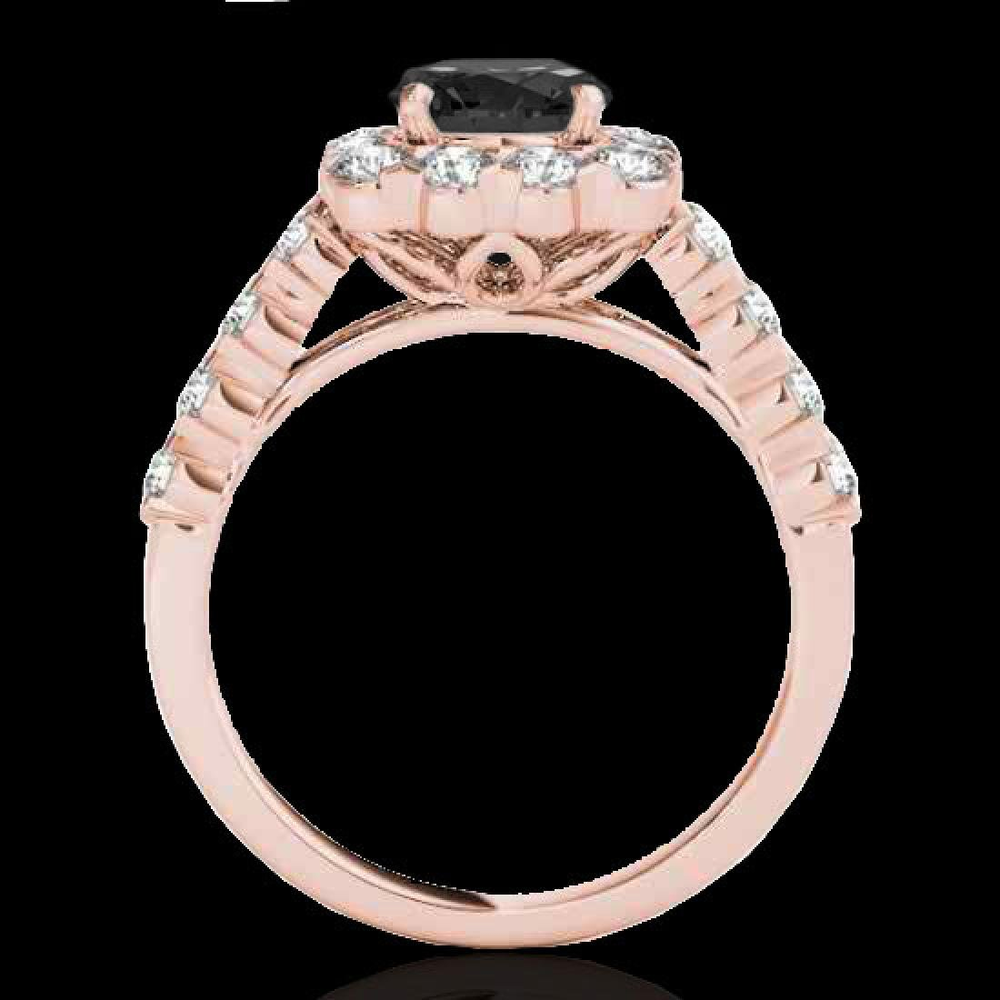 2.5 CTW Certified VS Black Diamond Solitaire Halo Ring - 2