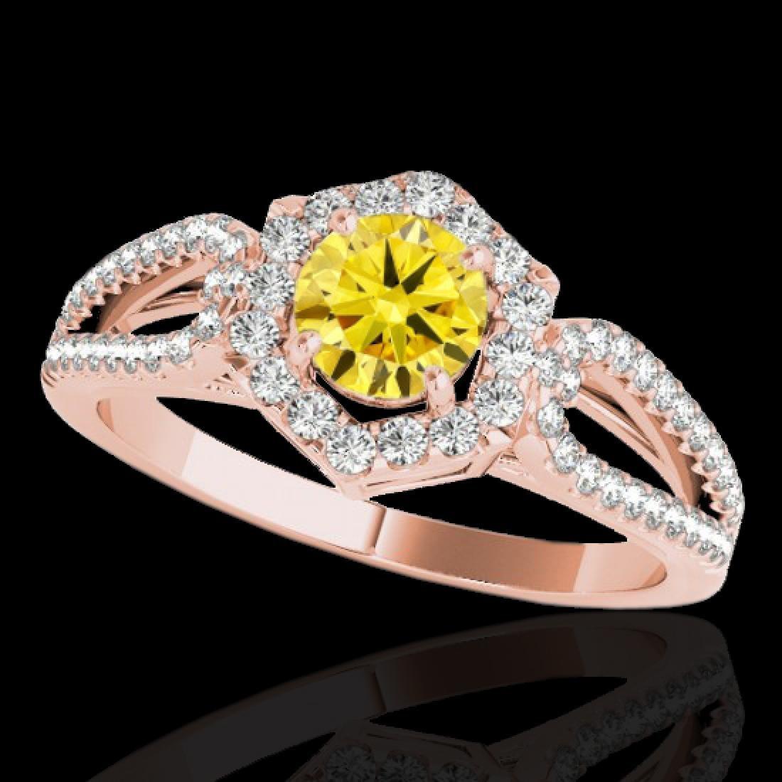 1.43 CTW Certified SI/I Fancy Intense Yellow Diamond