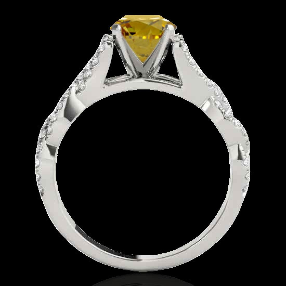 1.5 CTW Certified SI/I Fancy Intense Yellow Diamond - 2