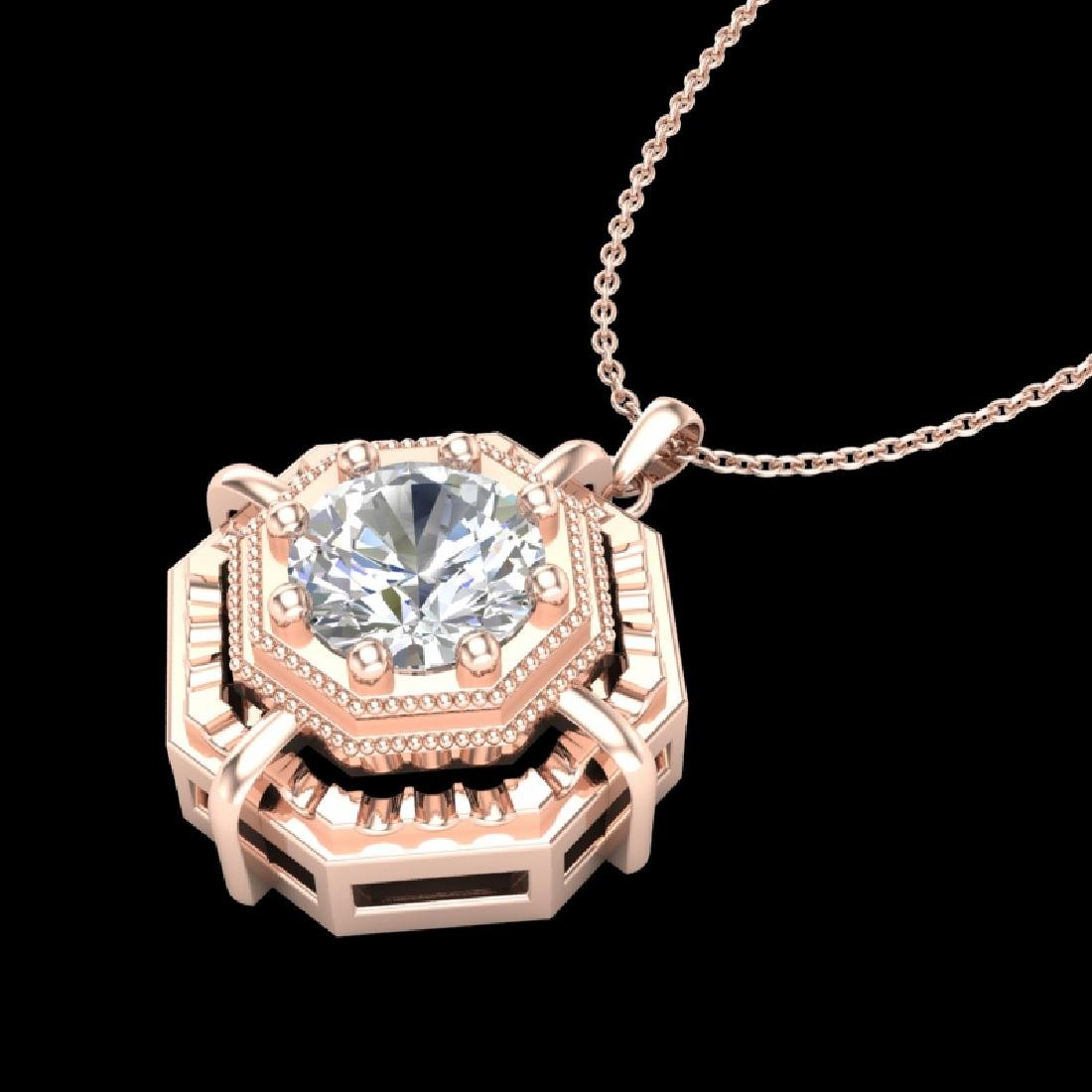 0.75 CTW VS/SI Diamond Solitaire Art Deco Stud Necklace - 2