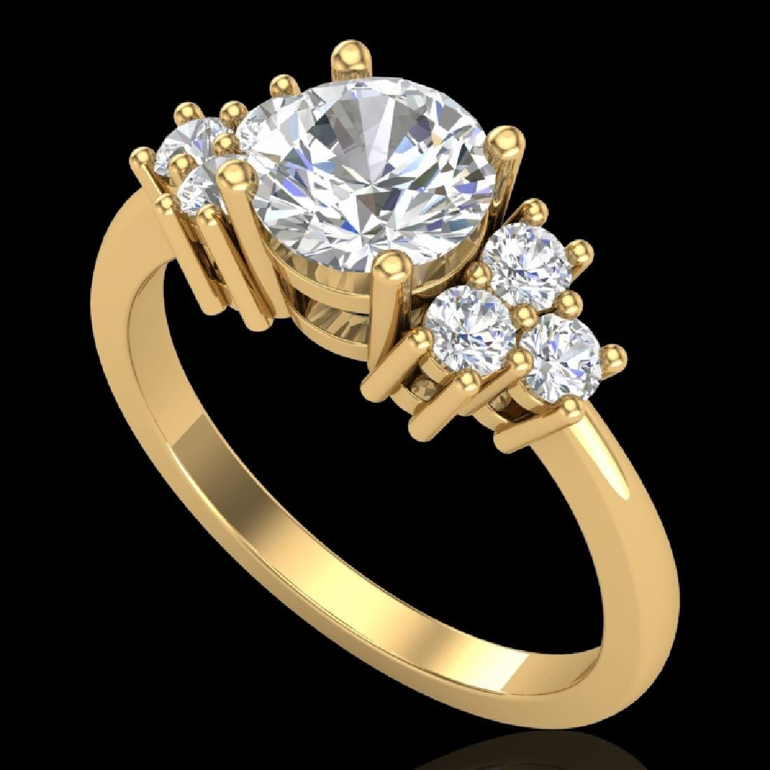 1.5 CTW VS/SI Diamond Solitaire Ring 18K Yellow Gold