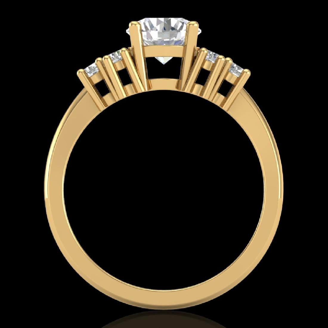 1.5 CTW VS/SI Diamond Solitaire Ring 18K Yellow Gold - 2