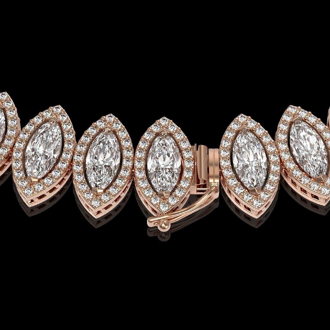 39.68 CTW Marquise Diamond Designer Necklace 18K Rose - 3