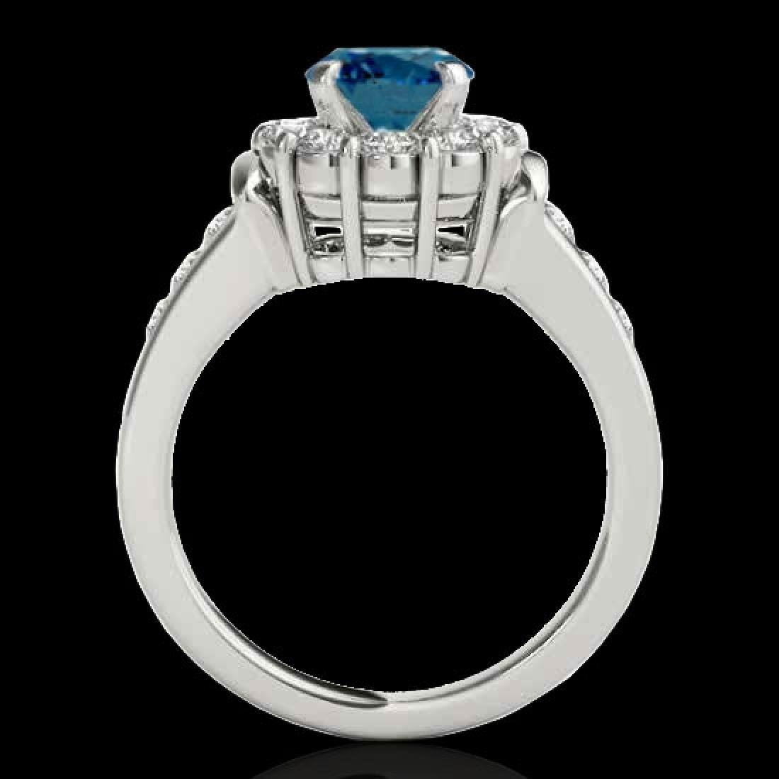 1.9 CTW SI Certified Fancy Blue Diamond Solitaire Halo - 2