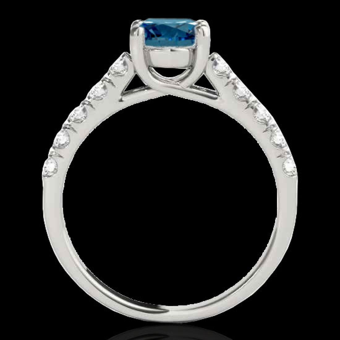 2.1 CTW SI Certified Fancy Blue Diamond Solitaire Ring - 2