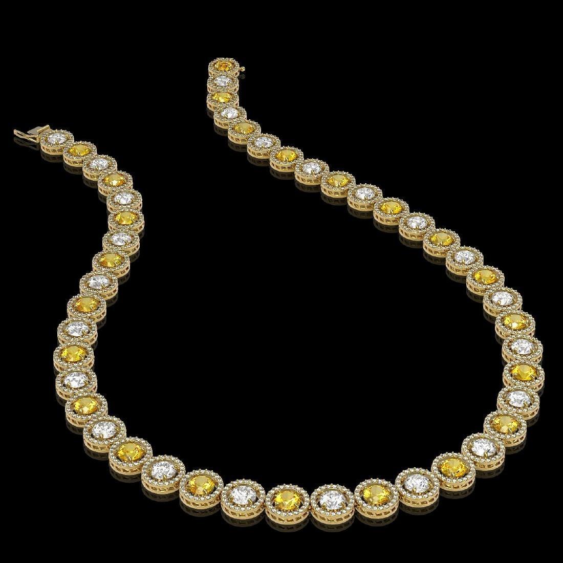 31.64 CTW Canary Yellow & White Diamond Designer - 2