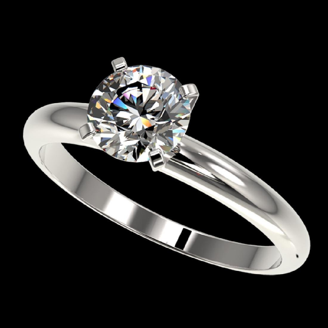 1.26 CTW Certified H-SI/I Quality Diamond Solitaire