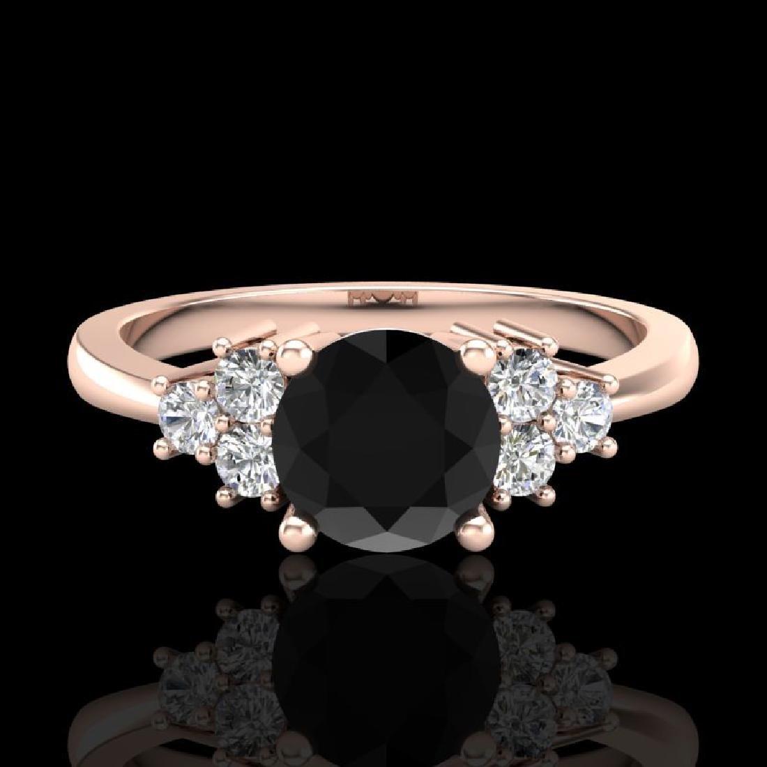 1 CTW Fancy Black Diamond Solitaire Engagement Classic - 2