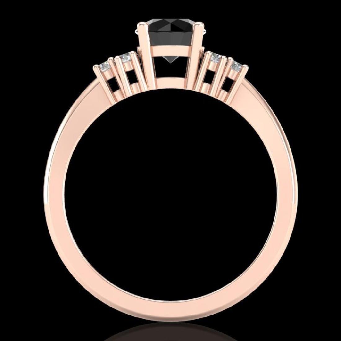 1 CTW Fancy Black Diamond Solitaire Engagement Classic - 3