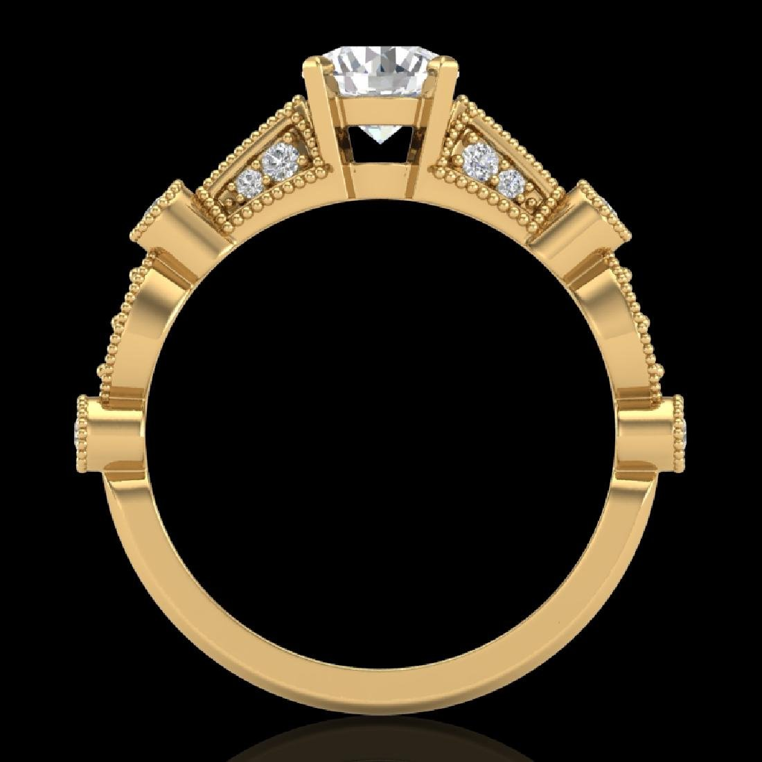 1.03 CTW VS/SI Diamond Solitaire Art Deco Ring 18K