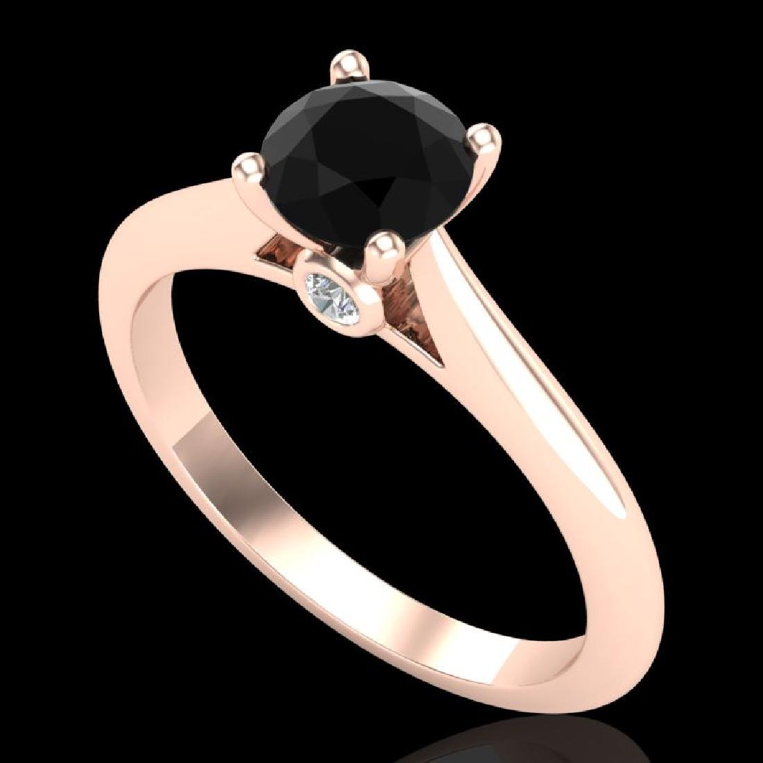 0.83 CTW Fancy Black Diamond Solitaire Engagement Art