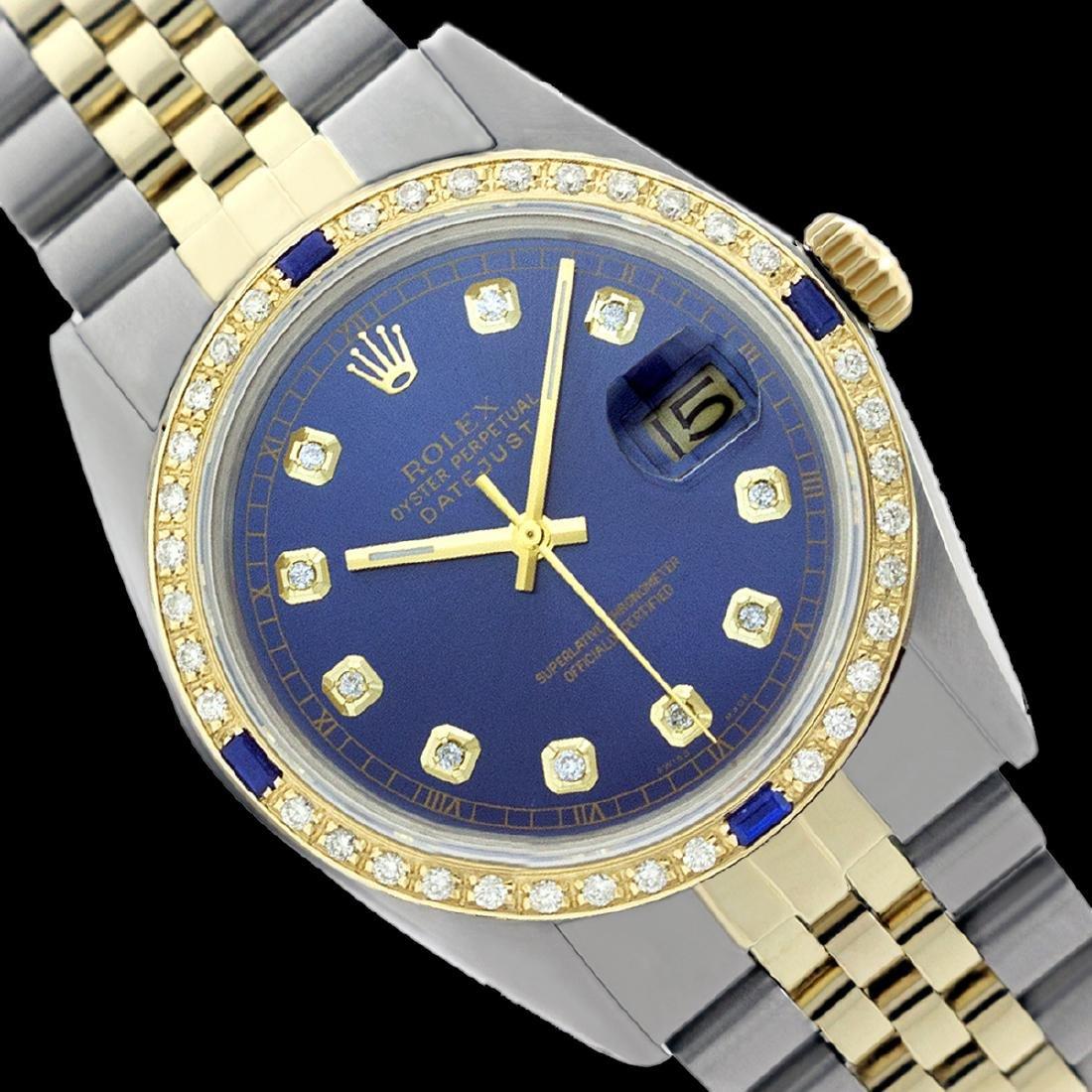 Rolex Men's Two Tone, QuickSet, Diam Dial &