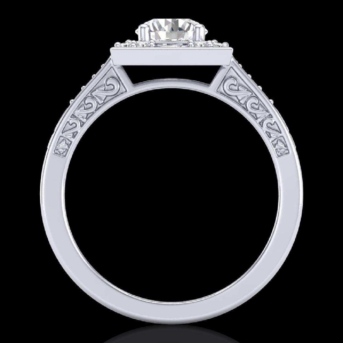 1.1 CTW VS/SI Diamond Art Deco Ring 18K White Gold