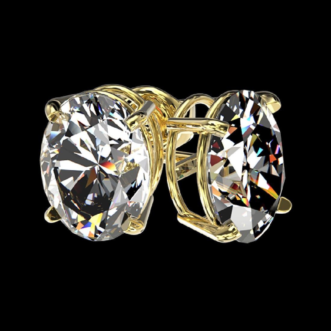 2.50 CTW Certified VS/SI Quality Oval Diamond Stud - 3