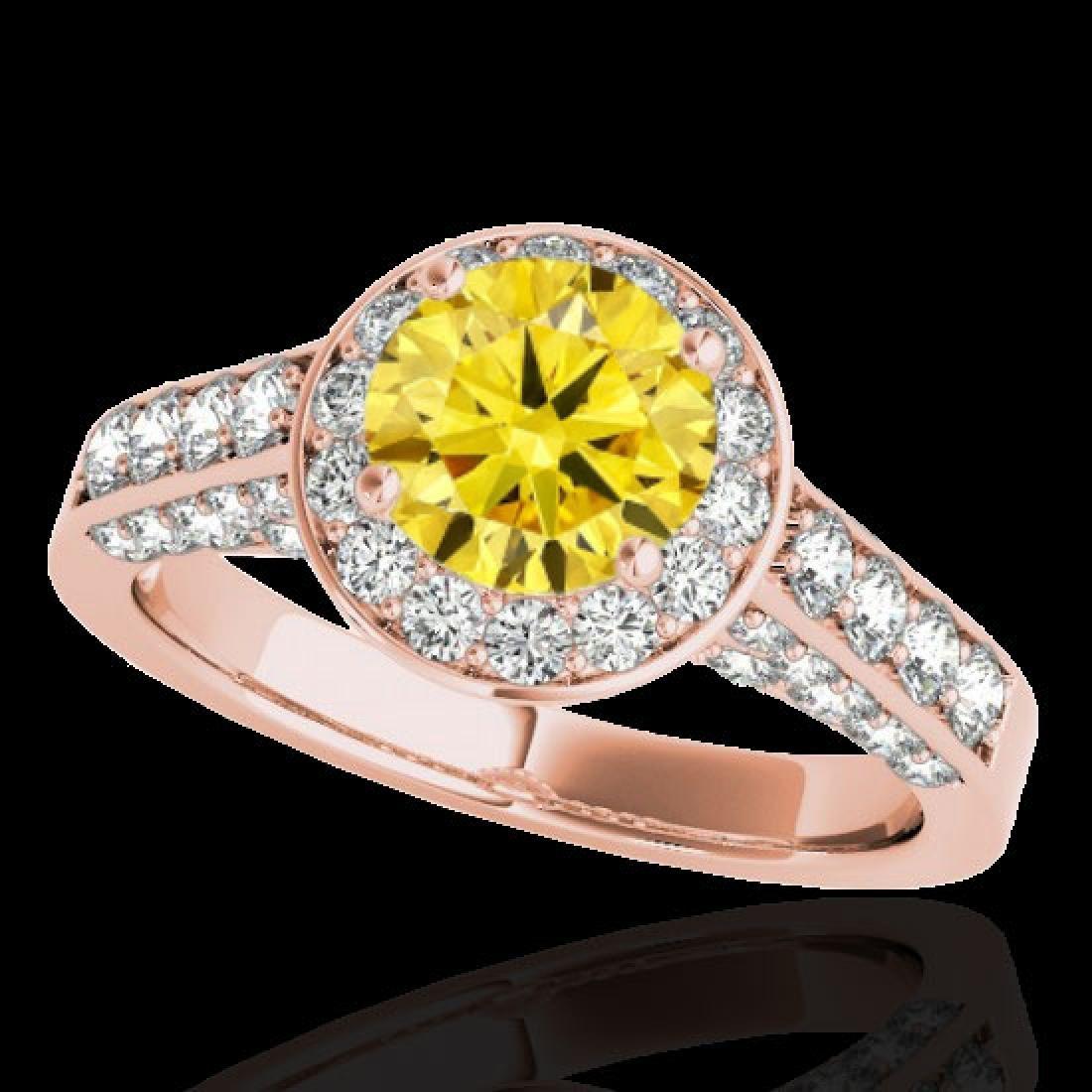 2.56 CTW Certified SI/I Fancy Intense Yellow Diamond