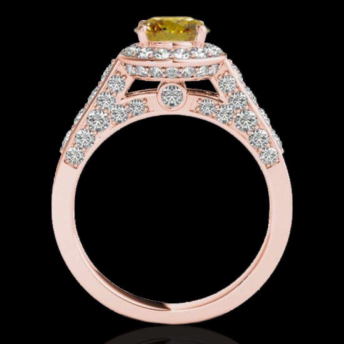 2.56 CTW Certified SI/I Fancy Intense Yellow Diamond - 2