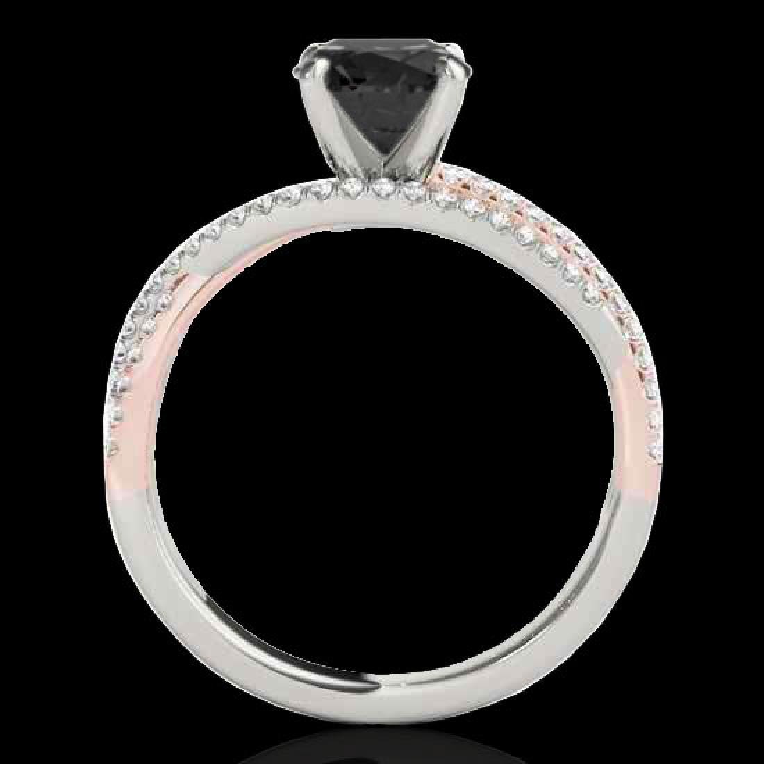 1.65 CTW Certified VS Black Diamond Solitaire Ring 10K - 2