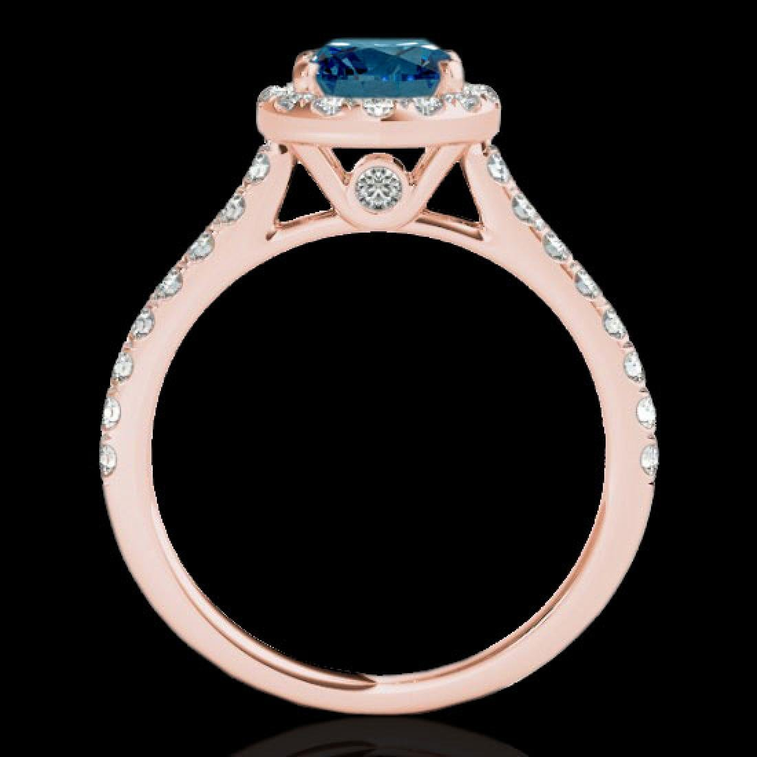 1.7 CTW SI Certified Fancy Blue Diamond Solitaire Halo - 2