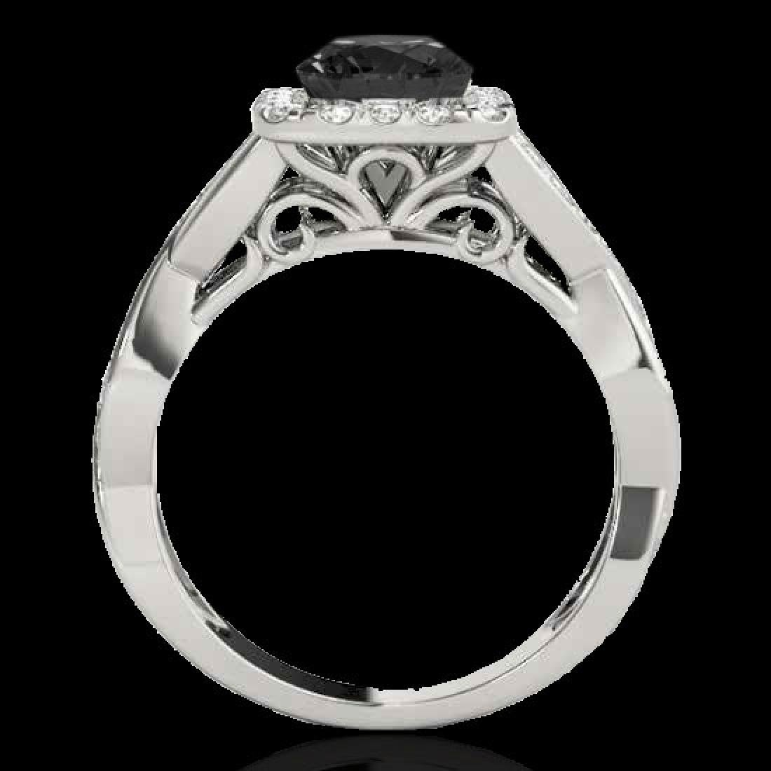 1.65 CTW Certified VS Black Diamond Solitaire Halo Ring - 2