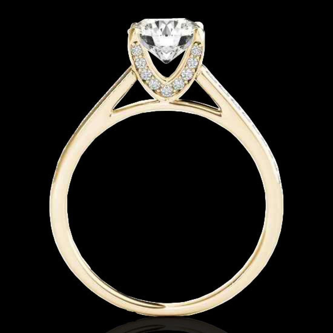 2 CTW H-SI/I Certified Diamond Solitaire Ring 10K - 2