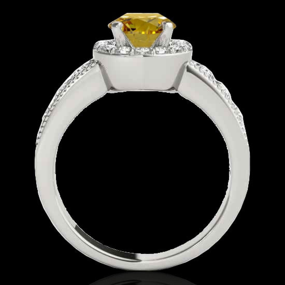 1.85 CTW Certified SI/I Fancy Intense Yellow Diamond - 2