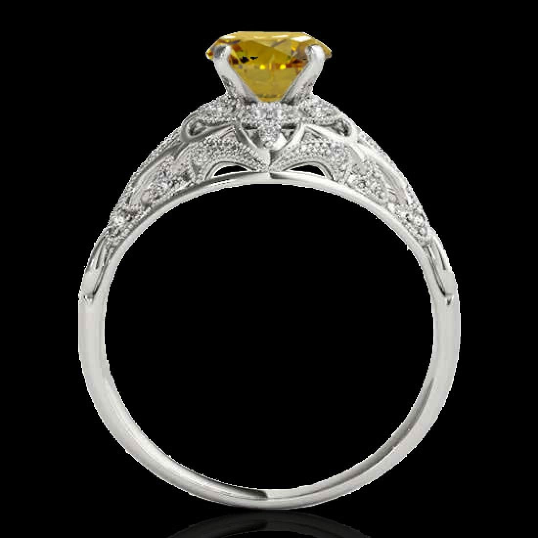 1.36 CTW Certified Si Intense Yellow Diamond Solitaire - 2