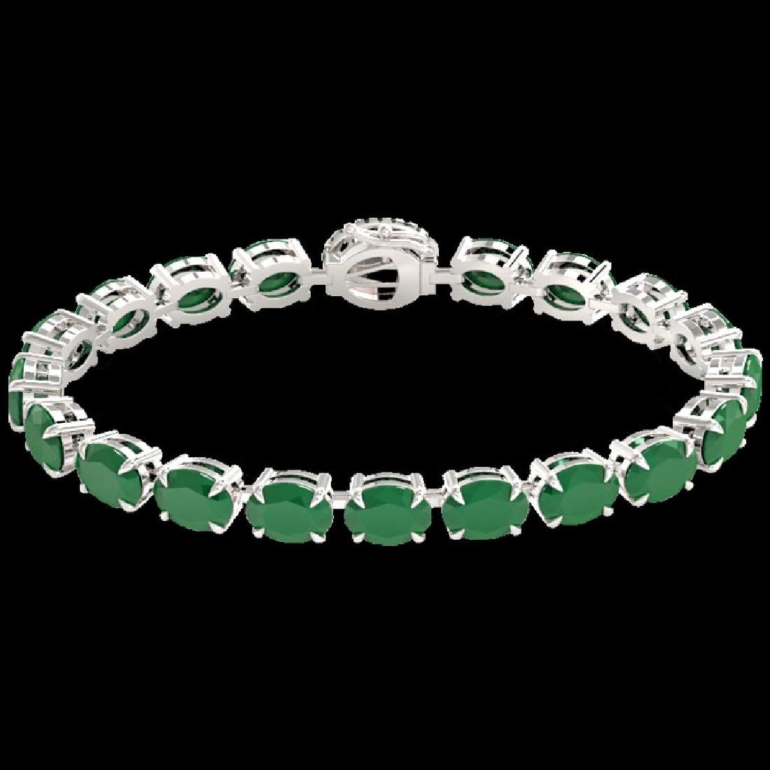 37 CTW Emerald & VS/SI Diamond Tennis Micro Pave Halo - 2