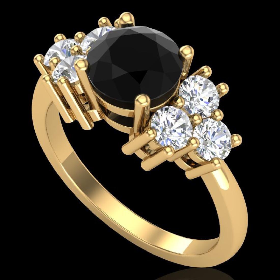 2.1 CTW Fancy Black Diamond Solitaire Engagement