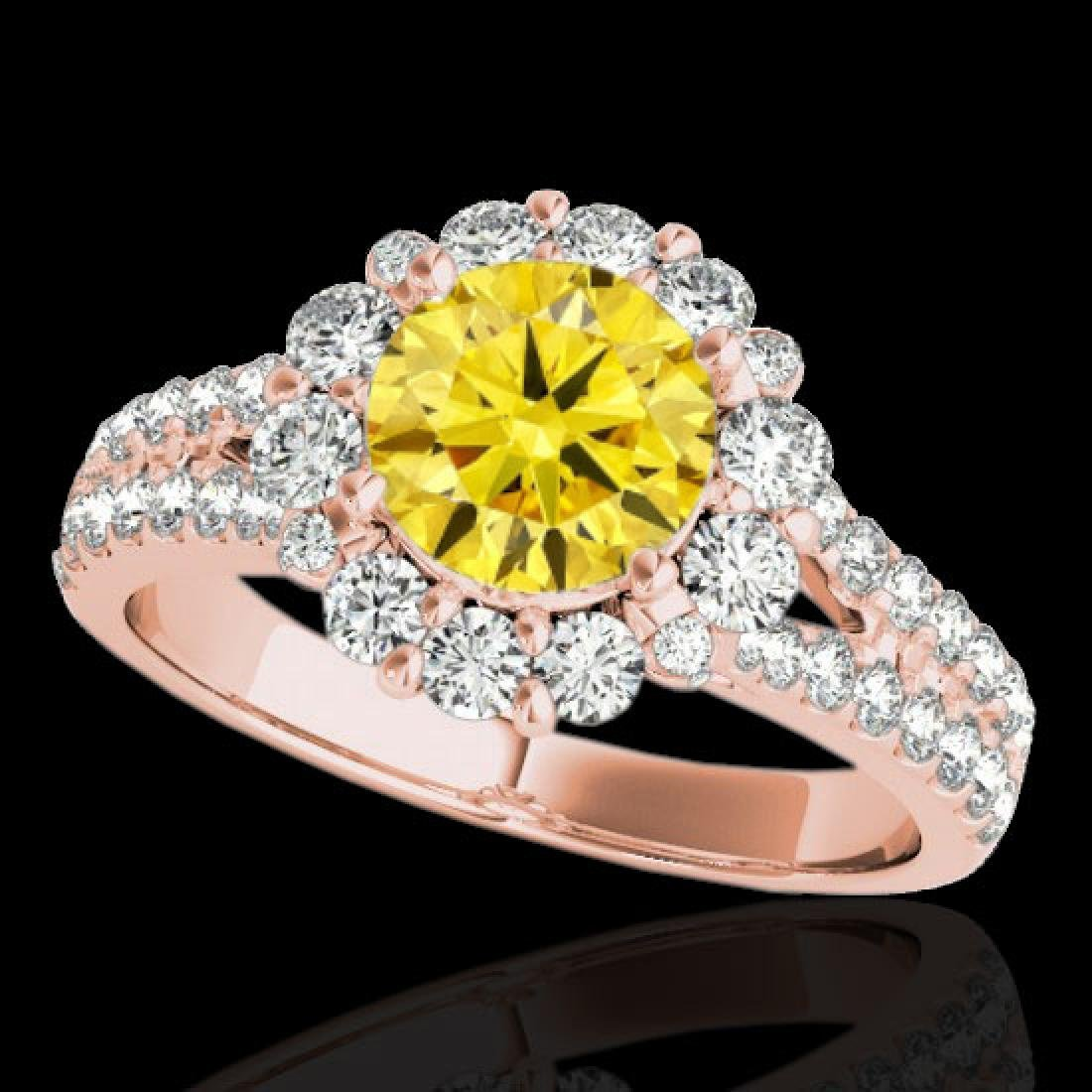 2.51 CTW Certified SI/I Fancy Intense Yellow Diamond