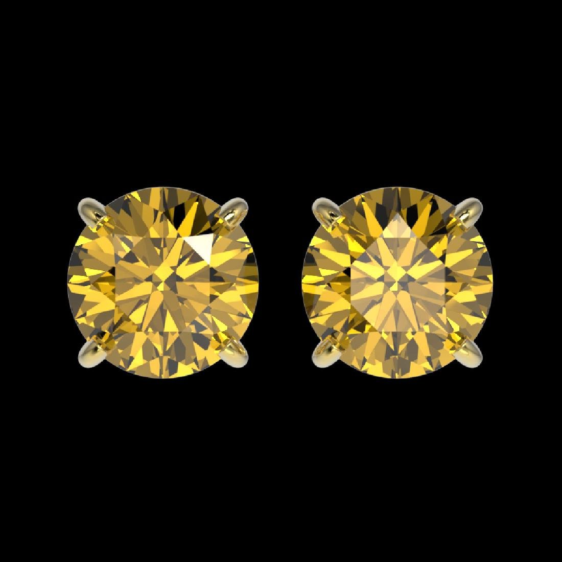 1.54 CTW Certified Intense Yellow SI Diamond Solitaire