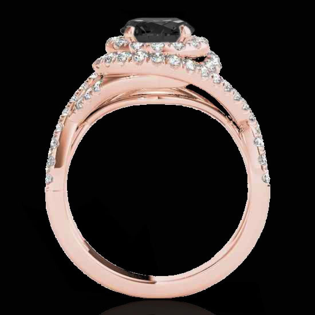 1.75 CTW Certified VS Black Diamond Solitaire Halo Ring - 2
