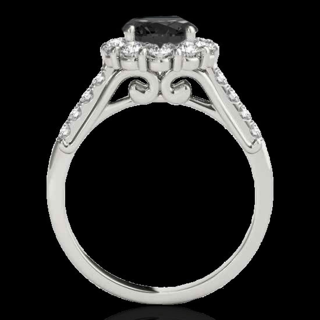 2.75 CTW Certified VS Black Diamond Solitaire Halo Ring - 2