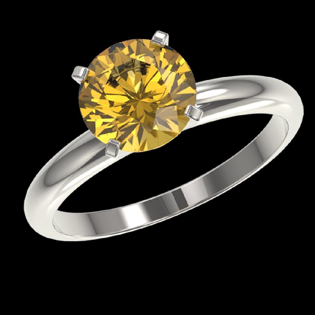 2 CTW Certified Intense Yellow SI Diamond Solitaire - 2