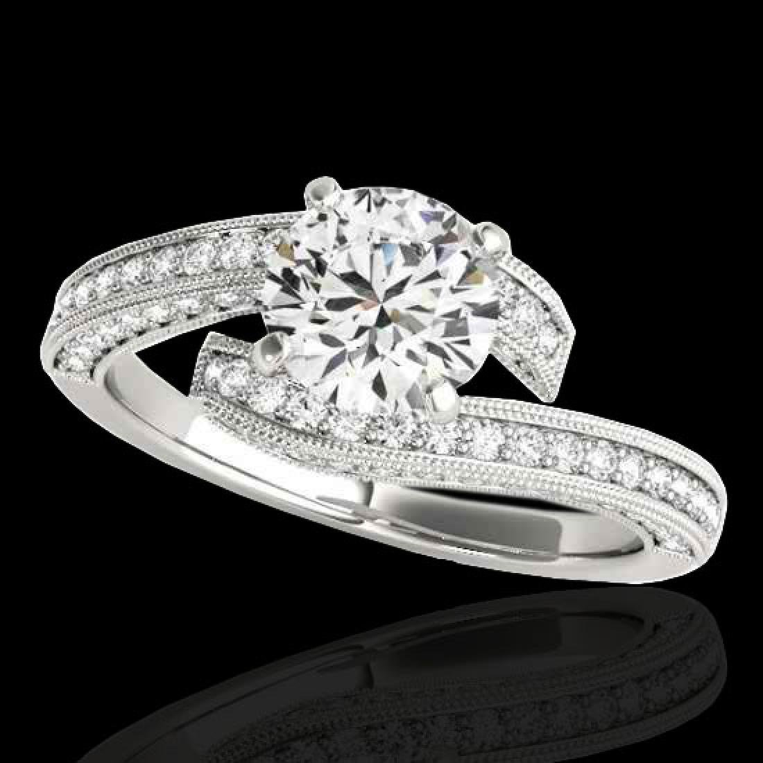 1.75 CTW H-SI/I Certified Diamond Bypass Solitaire Ring