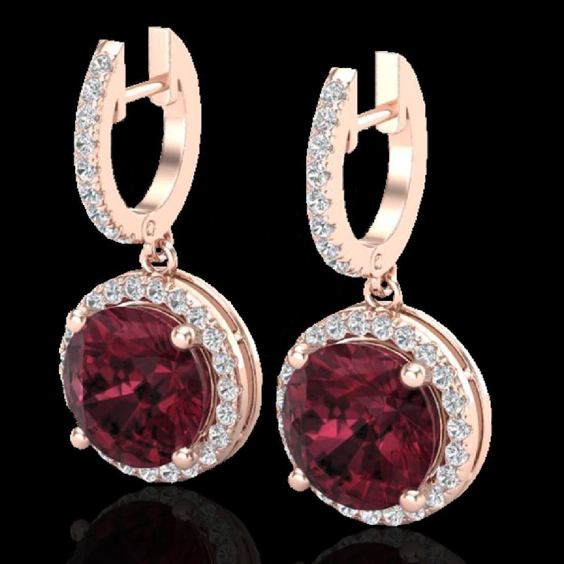 5.50 CTW Garnet & Micro Pave VS/SI Diamond Designer