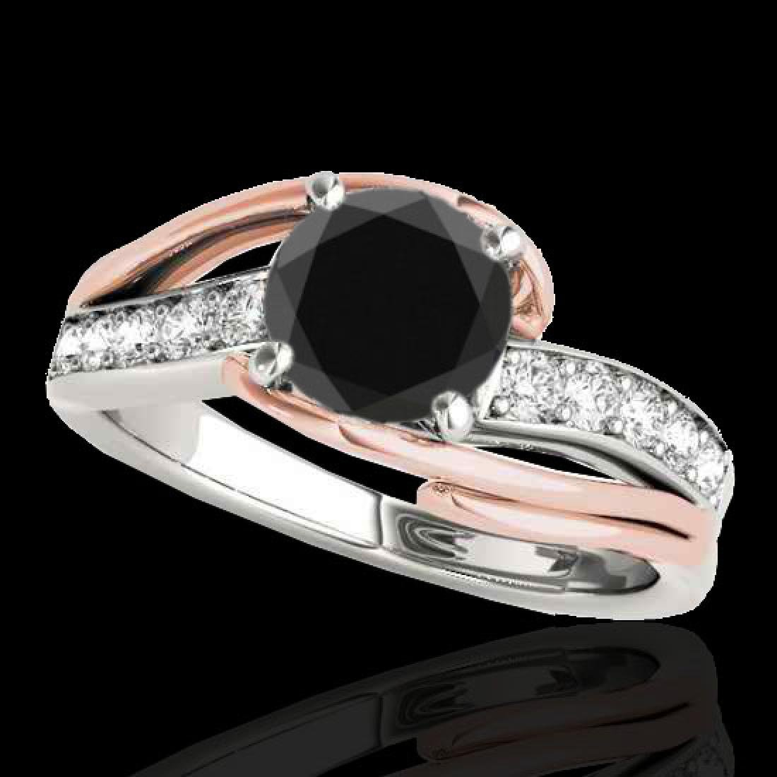 1.25 CTW Certified VS Black Diamond Bypass Solitaire