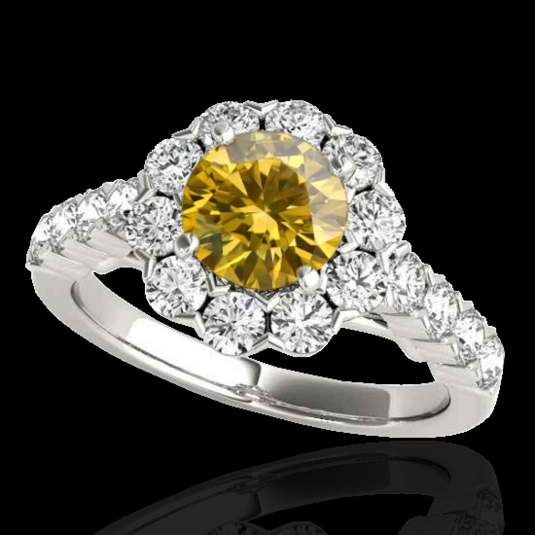 2.35 CTW Certified SI/I Fancy Intense Yellow Diamond