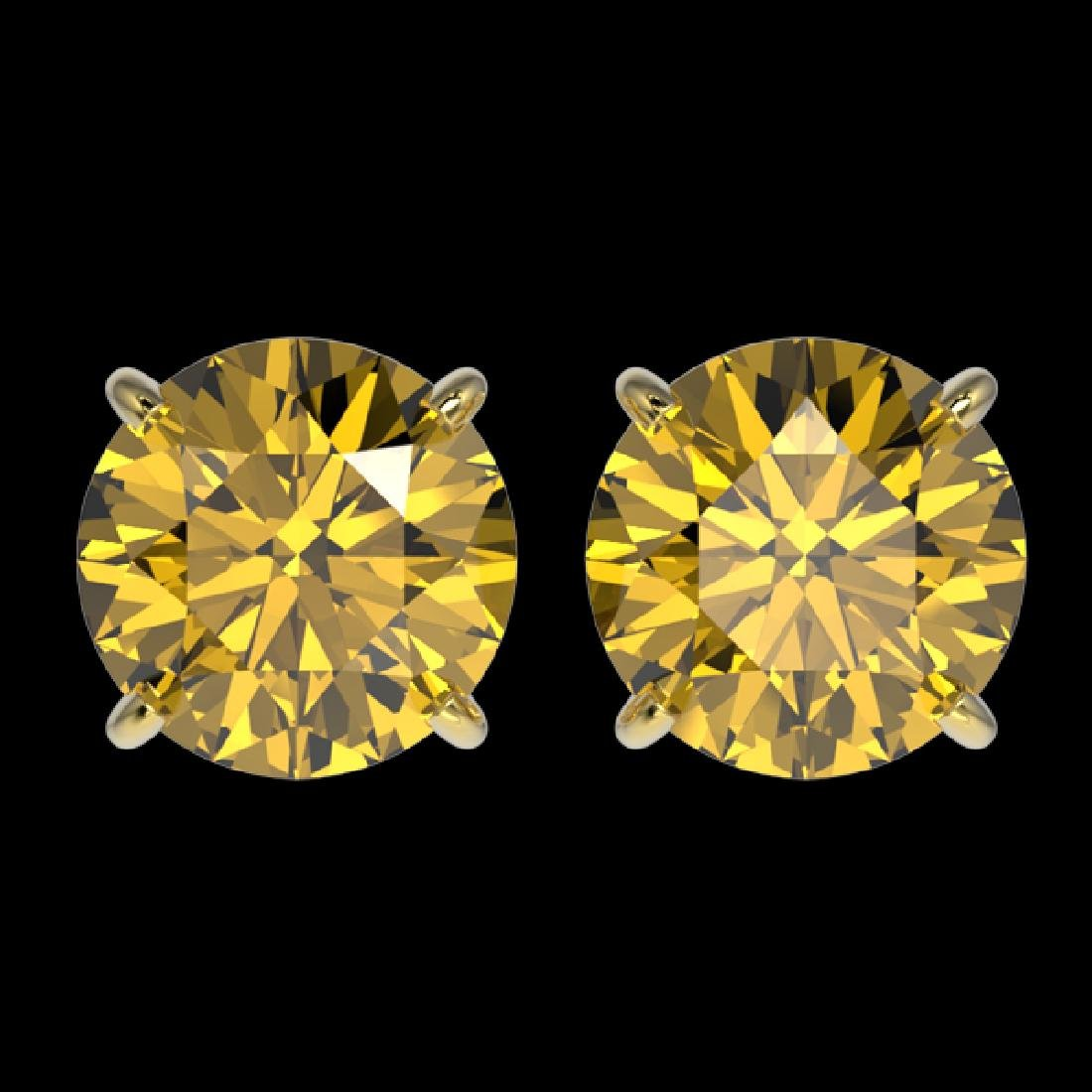 2.57 CTW Certified Intense Yellow SI Diamond Solitaire